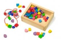 Fädelkreativ , Fädelbox , Holz , Perlen in Box