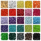Holzlinsen nach DIN EN 71-3 / Einfarbig = 50 stk. 10mm