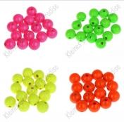 Holzperlen Neonfarben 6, 8 ,10 und 12mm