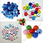 Perlen und Linsen ( Holz , Glas , Kunststoff und Strass Effekt )