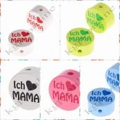 Motivscheibe ICH ♥ MAMA / ICH ♥ PAPA