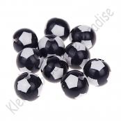 10 Fussballperlen 12mm Schwarz