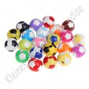 10 Fussballperlen 12mm Farbmix