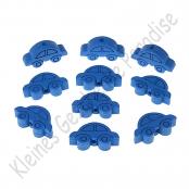 10 Motivperlen Auto Blau