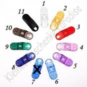 10 Schnullerclip Plastik nach Wahl