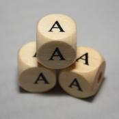 10 Stk. Holz Buchstabenwürfel ( A )