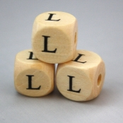 10 Stk. Holz Buchstabenwürfel ( L )