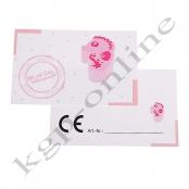 10 x CE Kärtchen Seepferdchen Rosa
