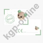 10 x CE Kärtchen 3D Teddy Mint