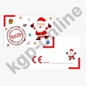 10 x CE Kärtchen Weihnachtsmann