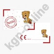 CE Kärtchen Löwe