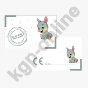 10 x CE Kärtchen Hase