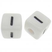 10 x I / Weiße Buchstabenwürfel 10x10mm
