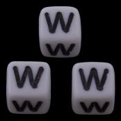 10 x W / Weiße Buchstabenwürfel 10x10mm