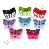 10 x  Motivperlen Glitzer Schmetterling nach Wahl