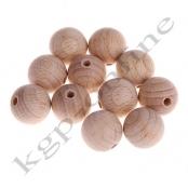 15 Roh Holzperlen 18 mm  / unlackiert