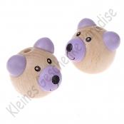 1 Bärenkopf 3D Teddy Flieder Vertikal