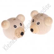 1 Bärenkopf 3D Teddy Natur Vertikal