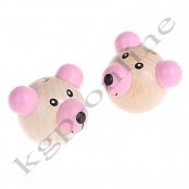 1 Bärenkopf 3D Teddy Rosa Vertikal