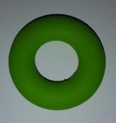 1 Beissring in Apfelgrün aus Silikon