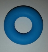 1 Beissring in Skyblau aus Silikon