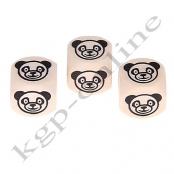 1 Geprägte Buchstabenwürfel Panda