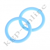 1 Mini Silikonring Babyblau