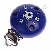 1 Motivclip Fussball Dunkelblau