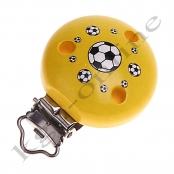 1 Motivclip Fussball Gelb