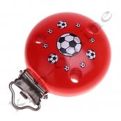 1 Motivclip Fussball Rot