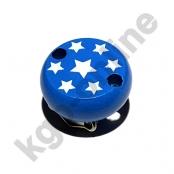 1 Motivclip Mini Schnullerclip Sternchen Mittelblau
