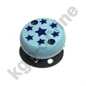 1 Motivclip Mini Schnullerclip Sternchen Babyblau
