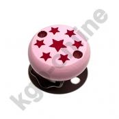 1 Motivclip Mini Schnullerclip Sternchen Rosa