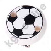 1 Motivclip Mini Schnullerclip Fussball Weiß