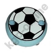 1 Motivclip Mini Schnullerclip Fussball Babyblau