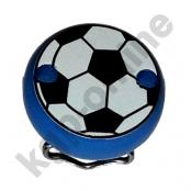1 Motivclip Mini Schnullerclip Fussball Blau