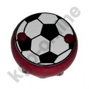 1 Motivclip Mini Schnullerclip Fussball Dunkelpink