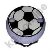 1 Motivclip Mini Schnullerclip Fussball Flieder