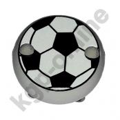 1 Motivclip Mini Schnullerclip Fussball Hellgrau