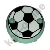 1 Motivclip Mini Schnullerclip Fussball Hellmint