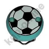 1 Motivclip Mini Schnullerclip Fussball Helltürkis