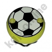 1 Motivclip Mini Schnullerclip Fussball Lemon
