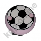 1 Motivclip Mini Schnullerclip Fussball Rosa