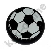 1 Motivclip Mini Schnullerclip Fussball Schwarz