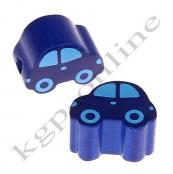 1 Motivperle Auto Dunkelblau/Babyblau