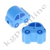 1 Motivperle Auto Hellblau/Mittelblau