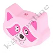 1 Motivperle Maxi Waschbär in Rosa