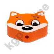 1 Motivperle Maxi Fuchs Aprikot-Mandarin
