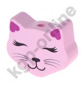 1 Motivperle Maxi Katze Augen zu in Rosa