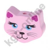 1 Motivperle Maxi Katze Rosa